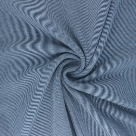 Reversible brushed sweatshirt fabric - navy blue Sacha x 10cm