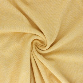 Reversible brushed sweatshirt fabric - yellow Sacha x 10cm