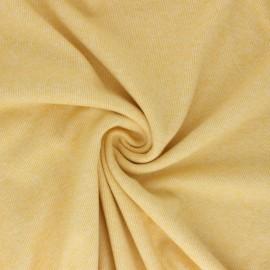 Tissu sweat gratté réversible Sacha - Jaune x 10cm