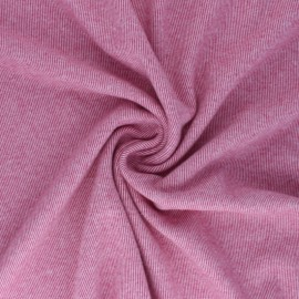 Reversible brushed sweatshirt fabric - raspberry Sacha x 10cm