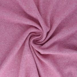 Tissu sweat gratté réversible Sacha - Framboise x 10cm