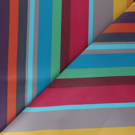 Sunny Outdoor canvas fabric - Turquoise Frejus x 10cm