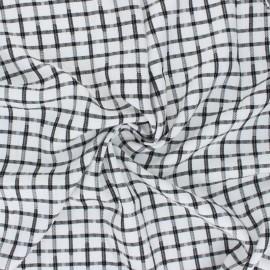 Checked Lurex Viscose fabric - black/white Edenham x 10cm