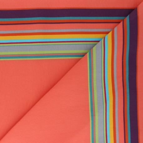 Tissu Toile Transat Playa Palavas - Corail x 10cm