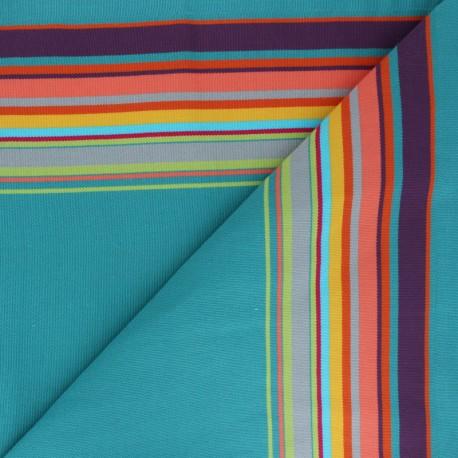 Playa Outdoor canvas fabric - lagoon Palavas x 10cm
