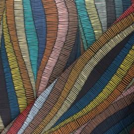 Tissu Toile Transat Kenya - Multicolore x 10cm