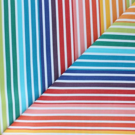 Sunny Outdoor canvas fabric - multicolor Carioca x 10cm