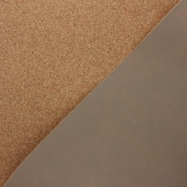 Cork fabric - natural Lisbonne x 10cm