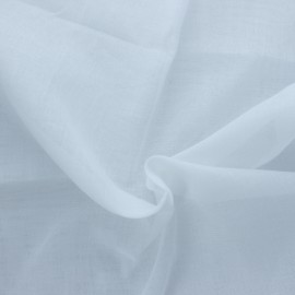 Muslin cotton fabric 50g/m2- white Céleste x 10cm