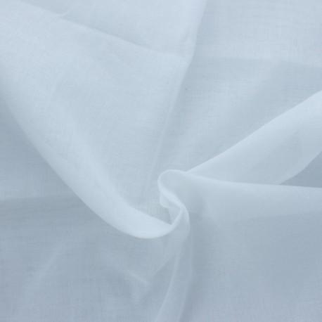 Muslin cotton fabric 50g/m2- white Céleste x 10cm