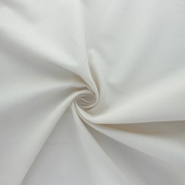 Organic satinette fabric - natural x 10cm