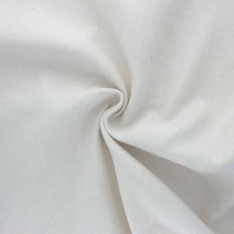 Organic cotton duffle fabric - natural x 10cm