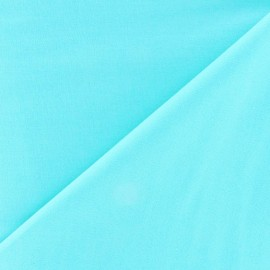 Tissu Popeline - Bleu aqua x10 cm