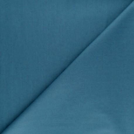 Tissu Popeline - Bleu houle x10 cm