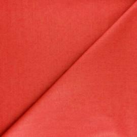 Tissu Popeline - Rouge coquelicot x10 cm