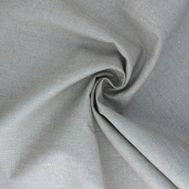 Tissu toile de lin pailletée Linda  - argent x 10cm