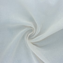 Cheesecloth cotton fabric - Natural Célimène x 10cm
