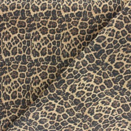 Cork fabric - Natural Golden leopard x 10cm