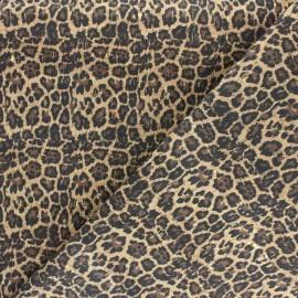 Tissu liège véritable Golden leopard - naturel x 10cm