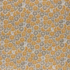 Tissu coton cretonne enduit Nikki- ocre x 10cm