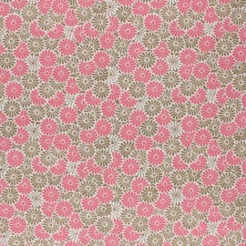 Coated cretonne cotton Fabric - pink Nikki x 10cm