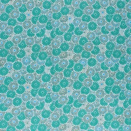 Coated cretonne cotton Fabric - green Nikki x 10cm