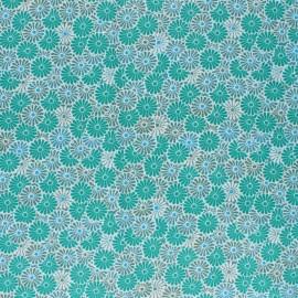 Tissu coton cretonne enduit Nikki- vert x 10cm