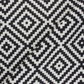 Polyester canvas fabric - Black Vannerie x 10 cm