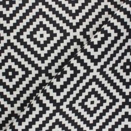Tissu toile polyester Vannerie - noir x 10 cm