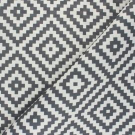 Tissu toile polyester Vannerie - gris x 10 cm