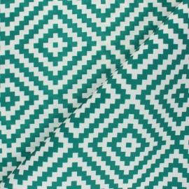 Tissu toile polyester Vannerie - vert x 10 cm