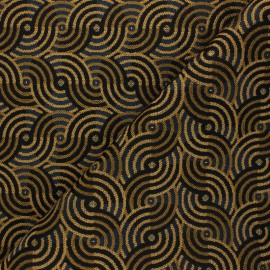 Jacquard fabric - rust Award x 10cm