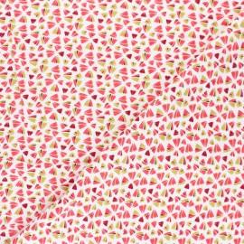 Domotex Viscose Fabric - Coral Zanteme x 10cm