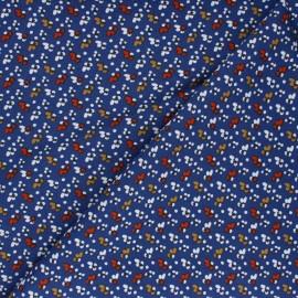 Tissu viscose Fida - bleu marine x 10cm