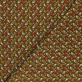 Domotex Viscose Fabric - olive green Fida x 10cm