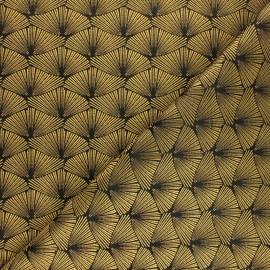 Jacquard fabric - gold Corea x 10cm