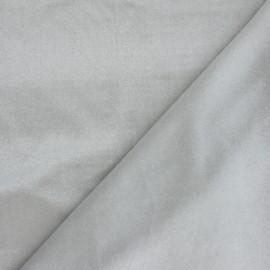 Tissu velours pailleté - gris x 10cm