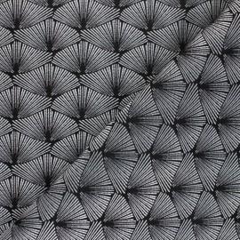 Tissu Jacquard Corea - Argenté  x 10cm