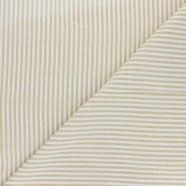 Cotton viscose voile Fabric - yellow Pyla x 10cm