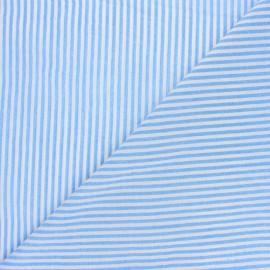 Cotton viscose voile Fabric - sky blue Pyla x 10cm