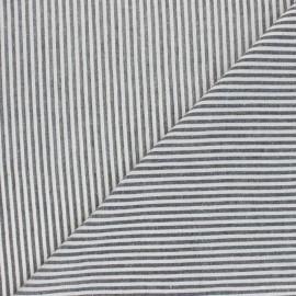Tissu voile coton viscose Pyla - noir x 10cm