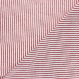 Cotton viscose voile Fabric - red Pyla x 10cm
