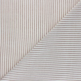 Tissu voile coton viscose Pyla - noisette x 10cm