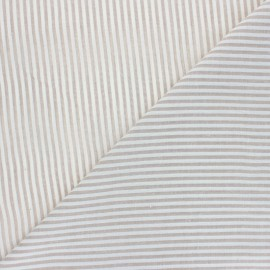 Cotton viscose voile Fabric - beige Pyla x 10cm