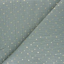 Tissu double gaze de coton Mini queen - vert sauge x 10cm