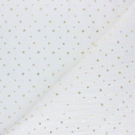 Tissu double gaze de coton Mini queen - blanc x 10cm