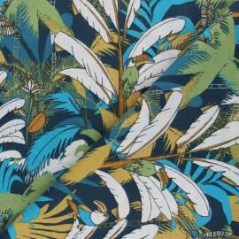 Cotton Fabric - navy blue Salomon x 10cm