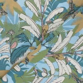 Tissu coton Salomon - bleu ciel x 10cm