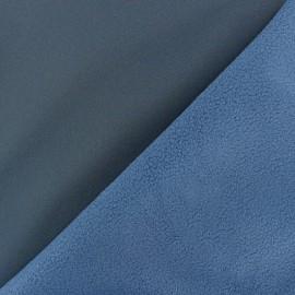 Tissu Softshell uni - bleu houle x 10cm