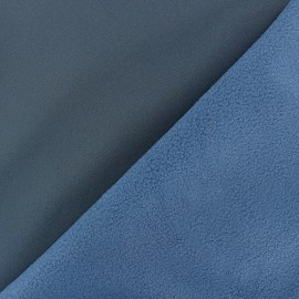 Water-repellent Softshell fabric - ocean blue x 10cm